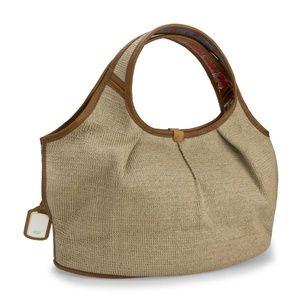 UGG Straw Tote Bag, Magnetic Closure, Used